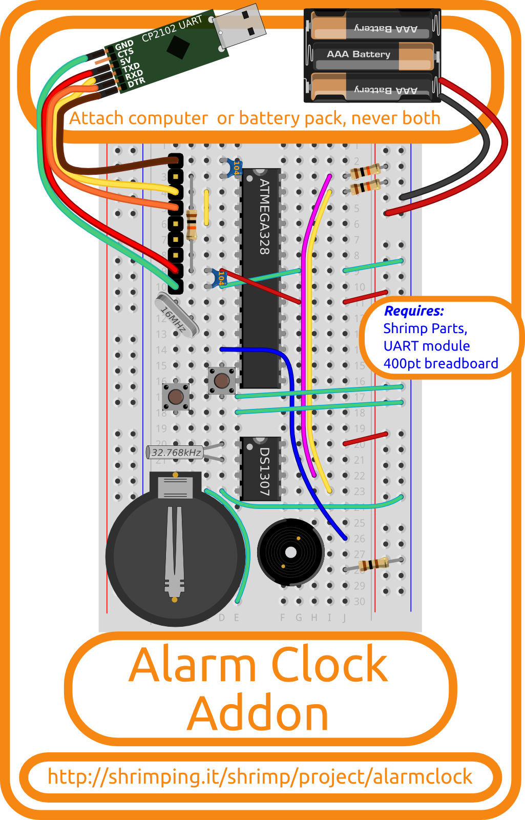 Build diagram for Alarm Clock