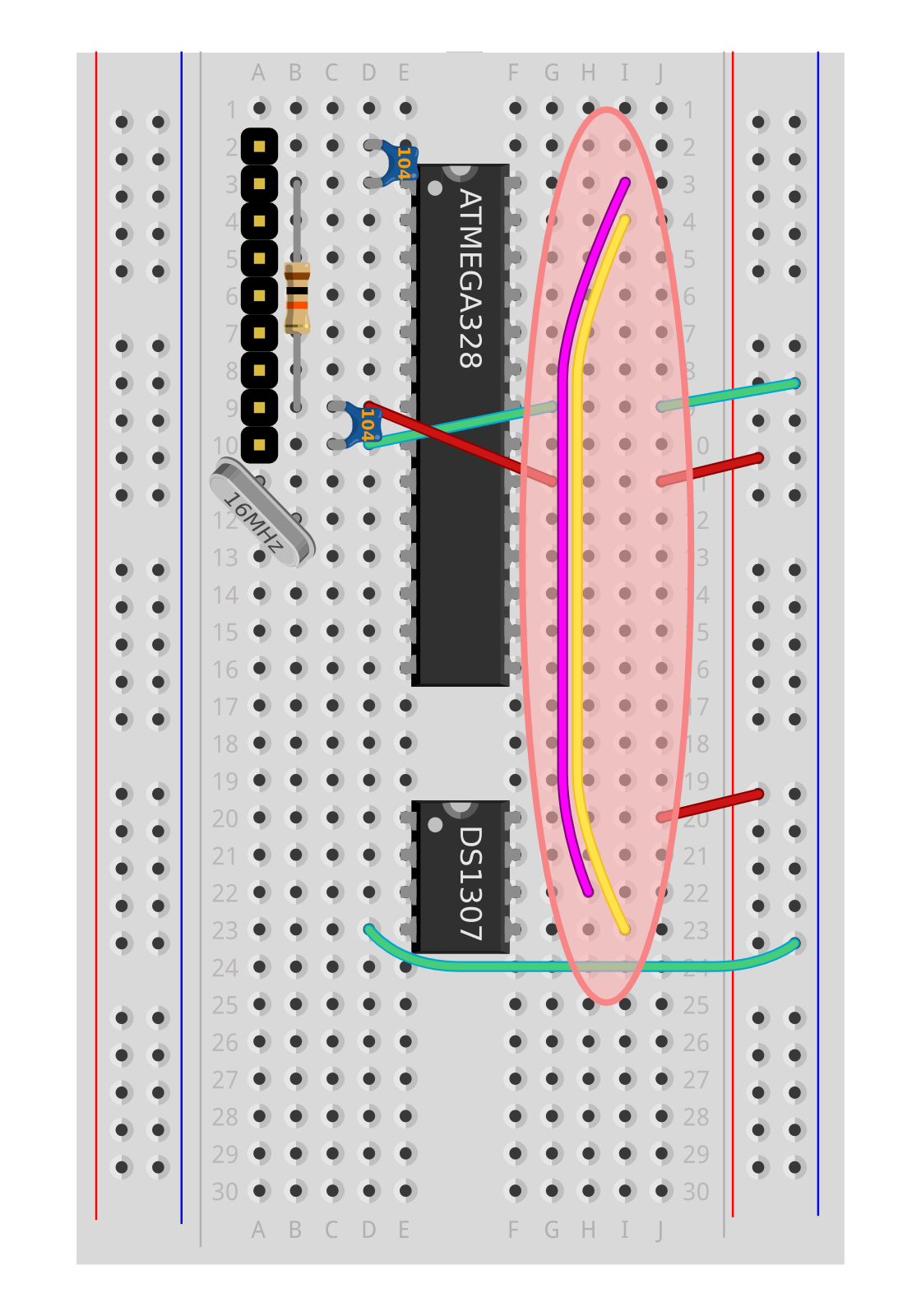Wiring The Alarm Clock Circuit I2c Communication Chipkit Tutorial 6 Inter Integrated Shrimps Microcontroller And Rtc Chip Communicate Using A Protocol Known As Or This Is Also Two Wire