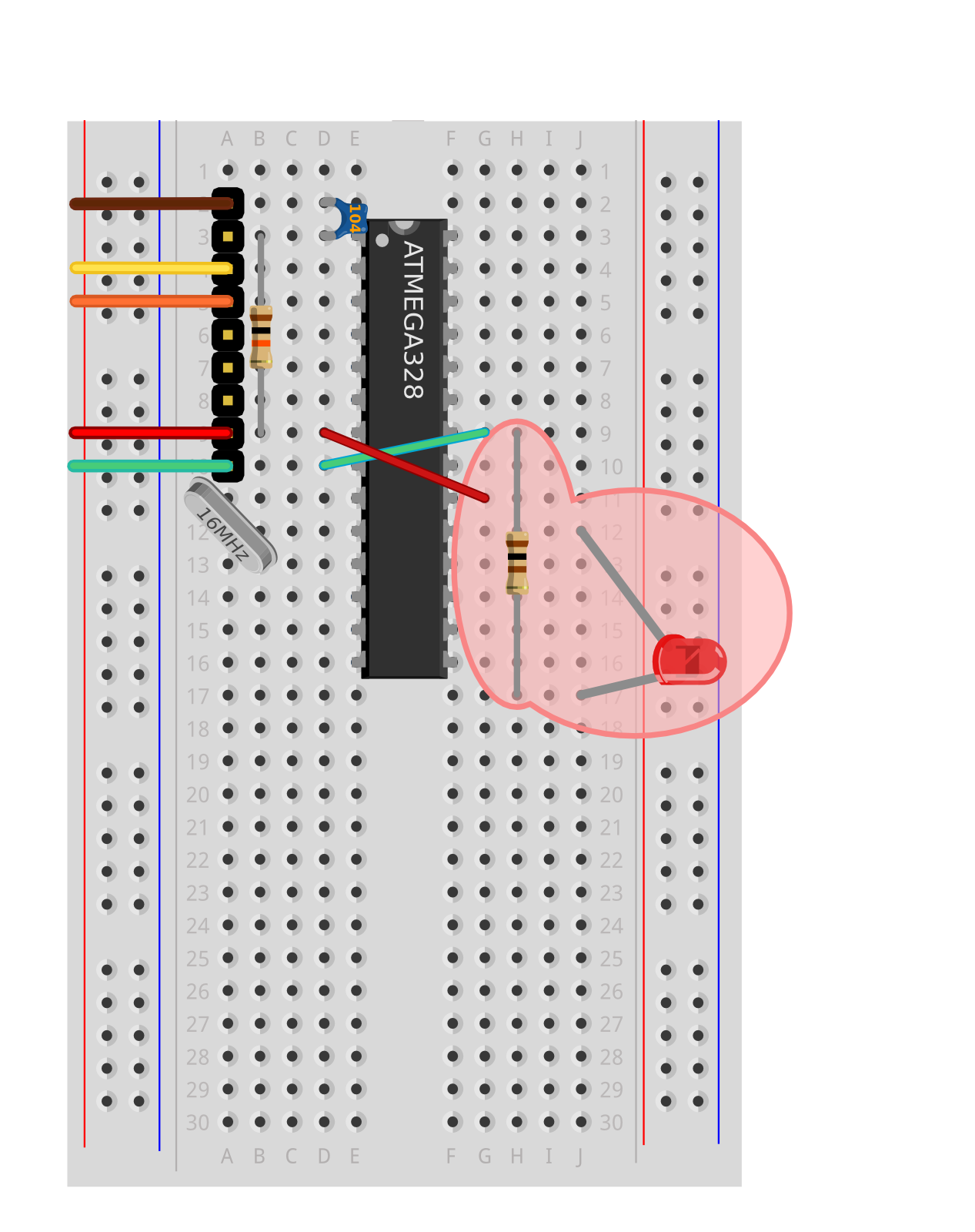 About This Guide Blinking Leds Circuit You Can Remove The Blink Led And Resistor As These Are Not Used In It Will Be Easier To Wire With Them Out Of Way