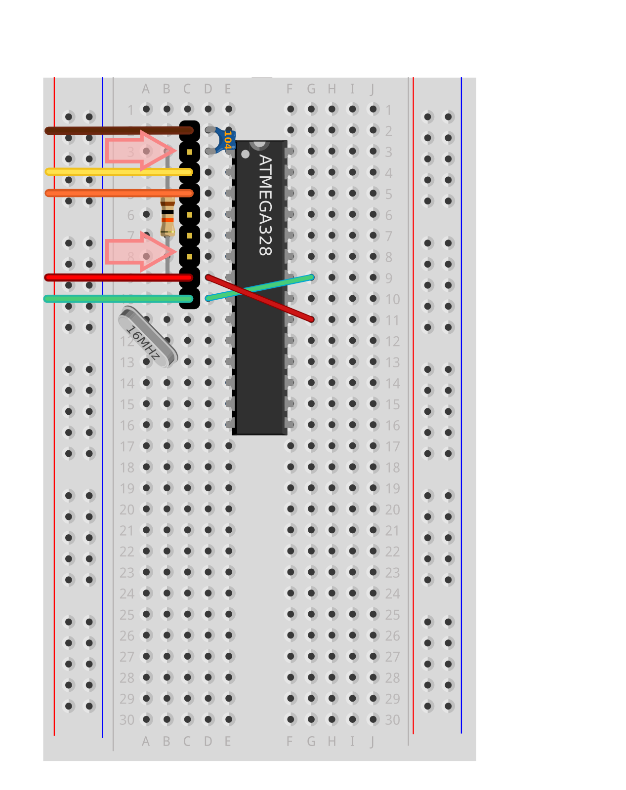 About This Guide Built The Circuit Up On Some Strip Board And Added Banana 9 Pin Header Uses An Area Where We Would Like To Add Pull Resistors Later In Build