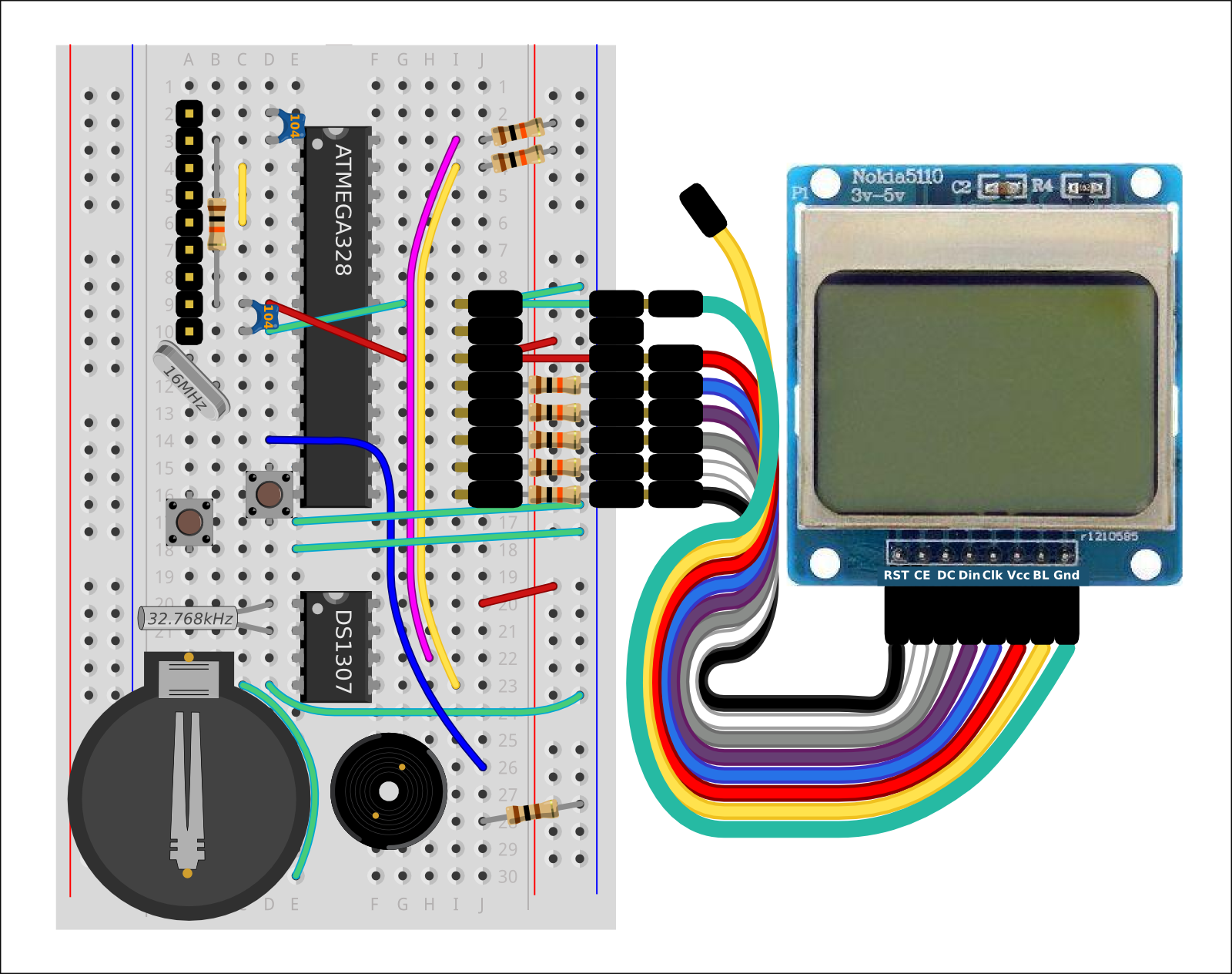 Wiring An Lcd Clock