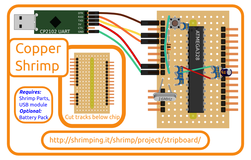 Build diagram for Stripboard kit