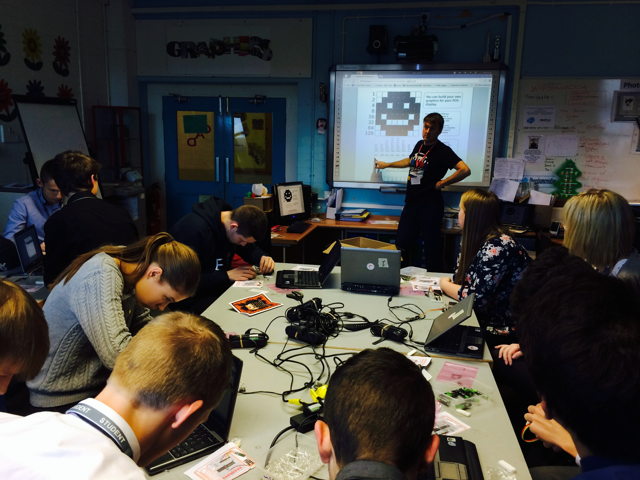Workshop at Heysham High school